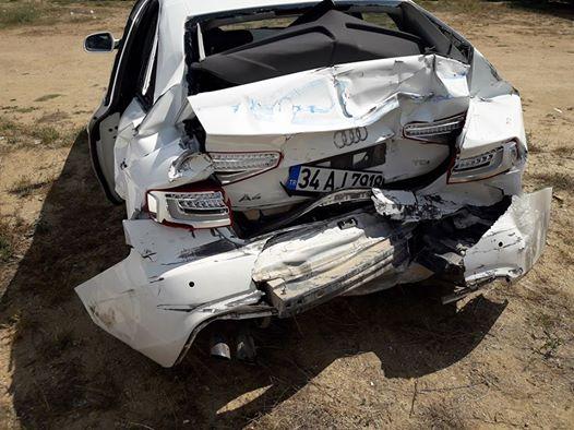 Adem Dinçer trafik kazasında mucize eseri kurtuldu