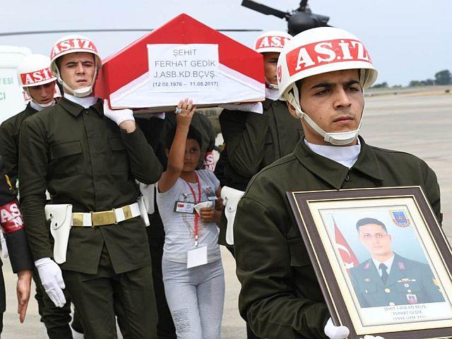 Trabzon Kahraman Şehidini  Omuzlarda Uğurladı