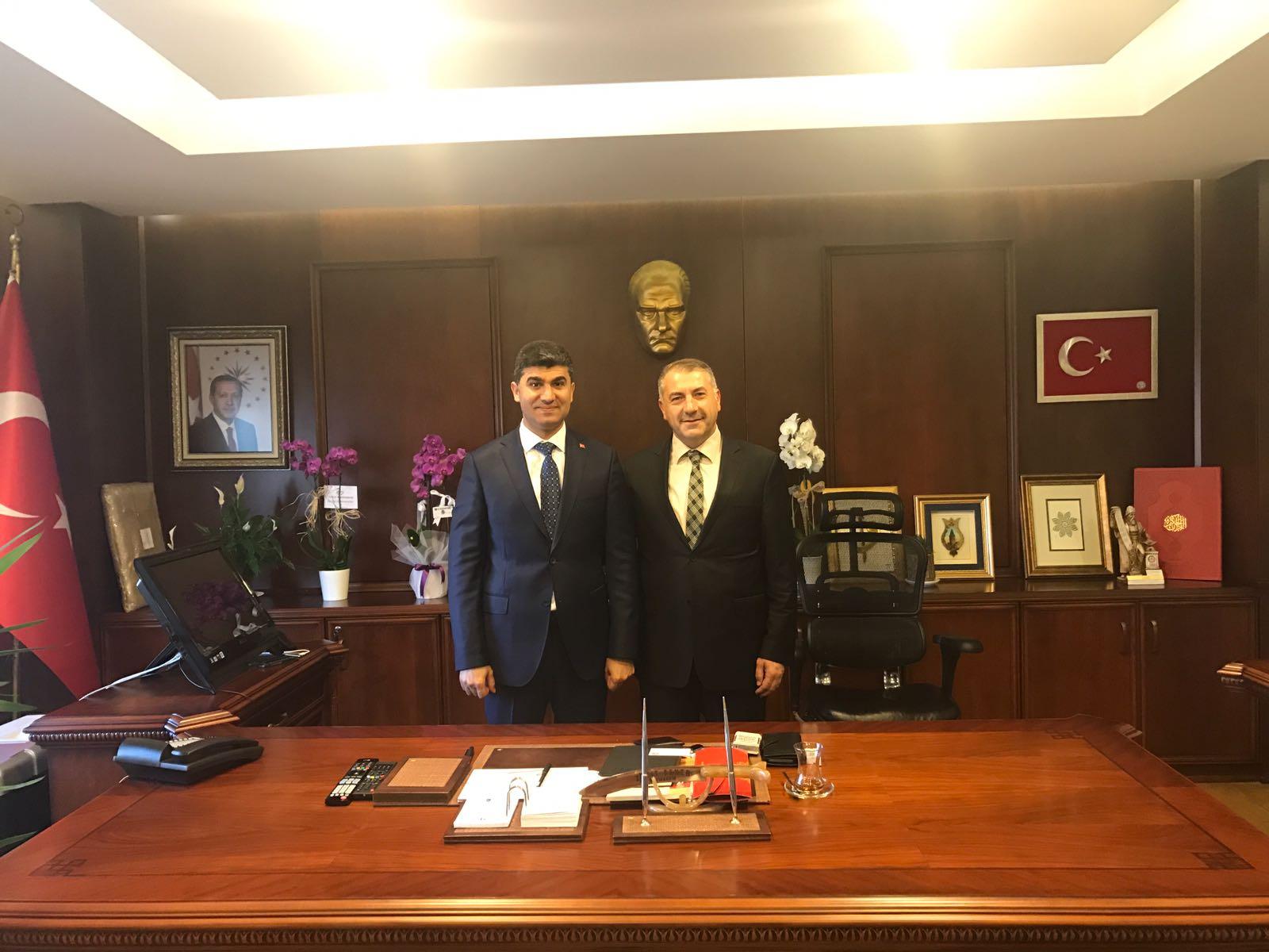 Ahmet Özsoy, Kaymakam Şener Ve Bünyamin Baş'a Hayırlı Olsun Dedi