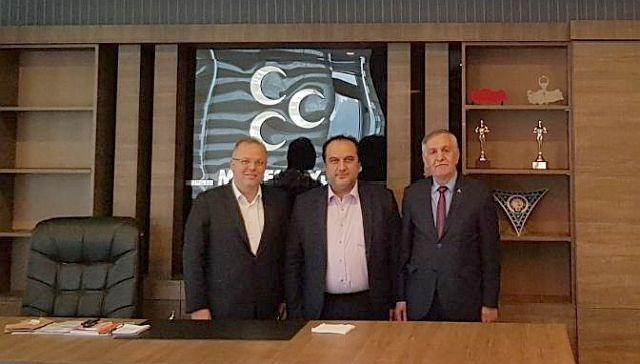 Murat Kotra ve Fuat Gül, Halil Kaval'ı Ziyaret Etti