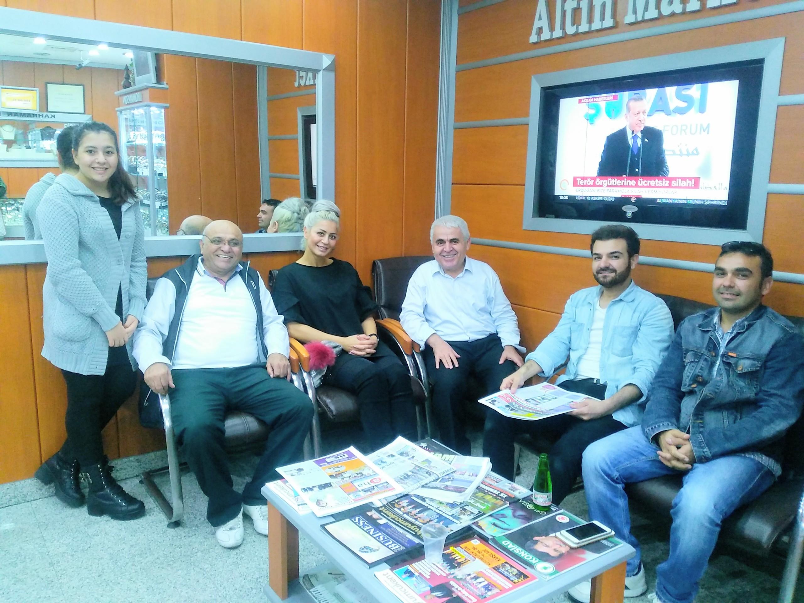 Mustafa Karagöz , Mehmet Aydos'u ağırladı
