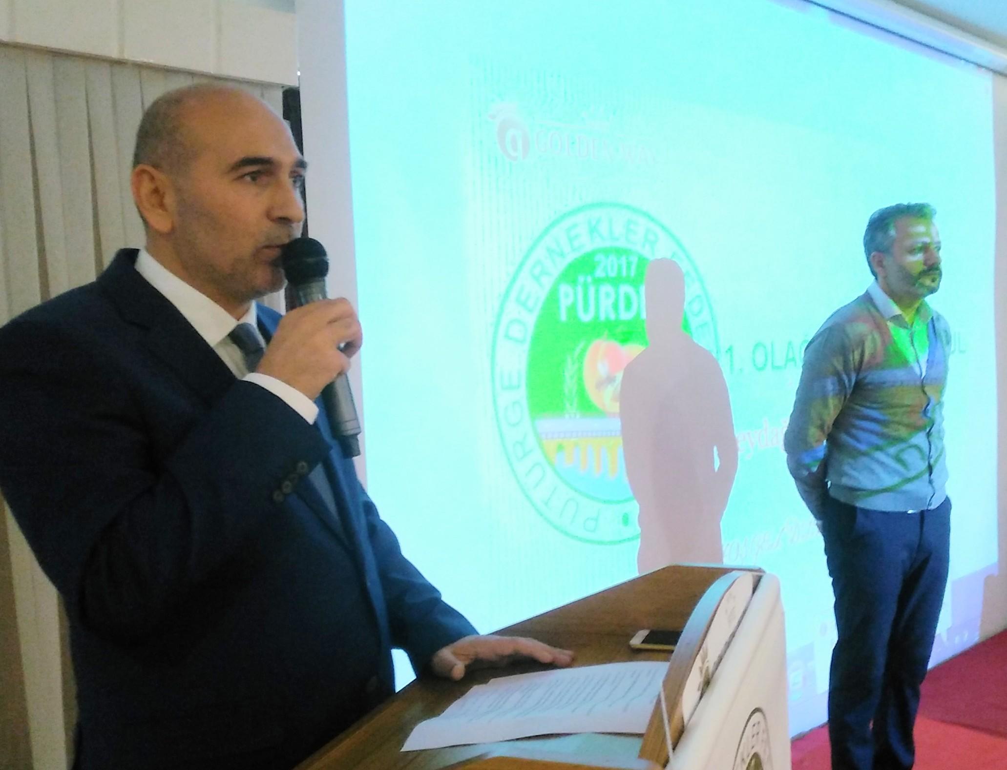 Pürdef kongresinde birlik beraberlik  adına Cihan Akköse yeniden başkan seçildi