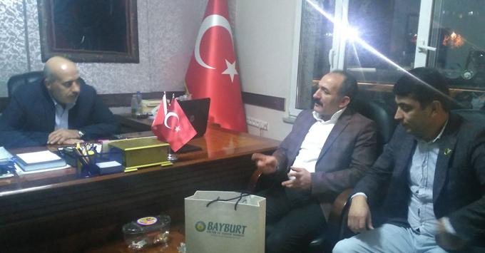 Bayburt Derneği Yeni Başkanı Ensar Kocabey, Mehmet Kaya'yı Ziyaret Etti