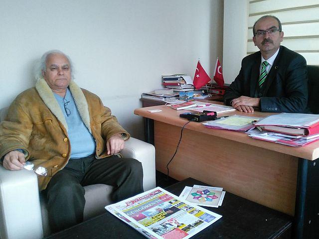 Mahmut Akçal, Akbaba Haber Ajansı'nı Ziyaret Etti