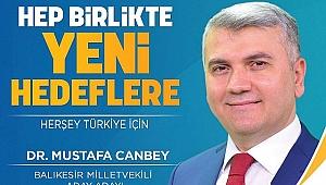 Dr. Mustafa Canbey Balıkesir'de 4. sırada Milletvekil adayı