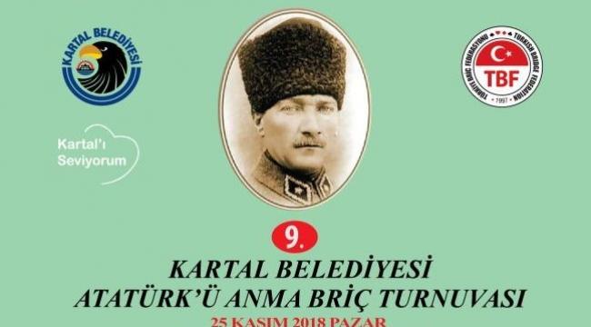 Atatürk'ü Anma Briç Turnuvası Kartal'da Düzenlenecek