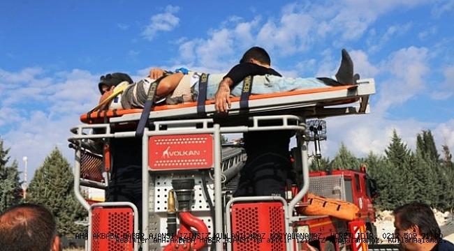 İnşattan Düşen İşçi Yaralandı