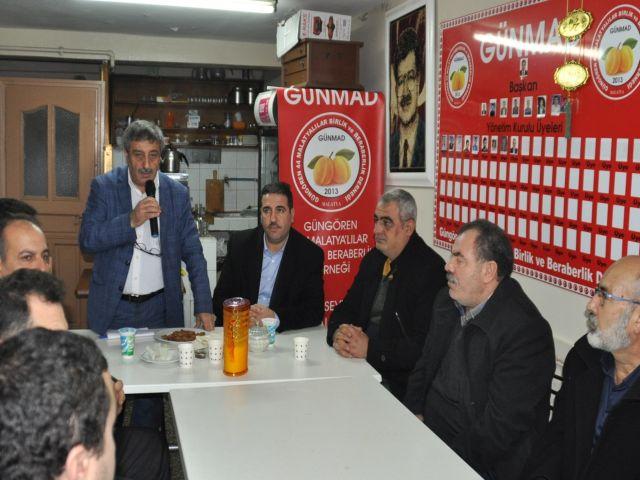 Güngören'li Malatya'lılar Dursun Kaplan'a güven oyu verdi
