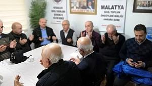 Malatya'nın değerleri Ankara'da dualarla bir kez daha yad edildi