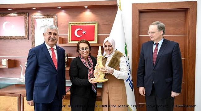 AB Türkiye Delegasyonu Başkanı Berger'den Başkan Polat'a ziyaret