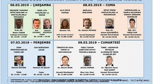 """""""Kocaeli 2. Doğu Marmara Tarım Fuarı"""" Başlıyor"""