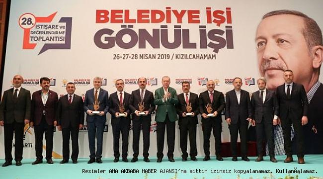 Başkan Gürkan'a Cumhurbaşkanından Plaket