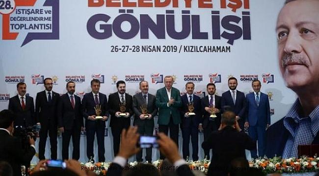 Cumhurbaşkanı Erdoğan'dan, Belediye Başkanı Kılınç'a Ödül