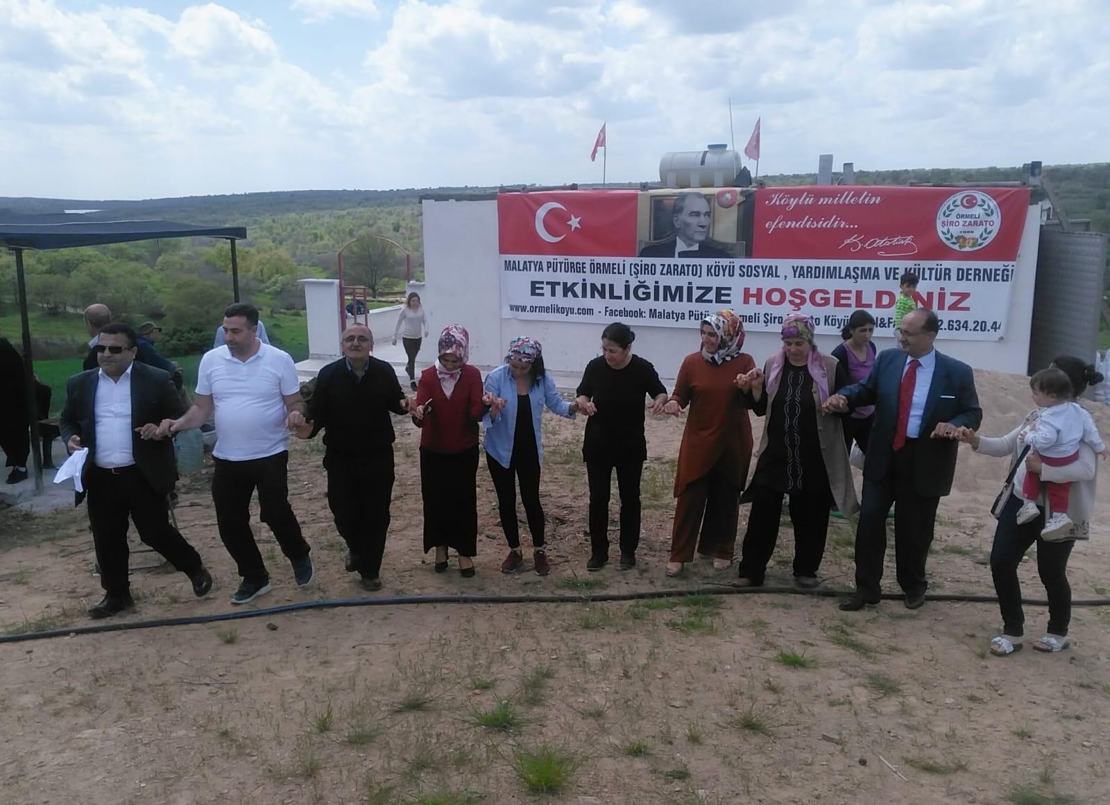 Pütürge Örmeli Köyü  şenliğinde bahar halaylarla karşılandı