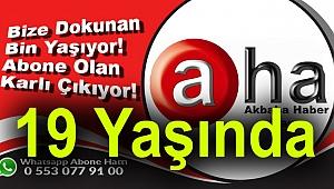 Akbaba Haber Ajansı 19 Yaşında....Teşekkürler Türkiye...