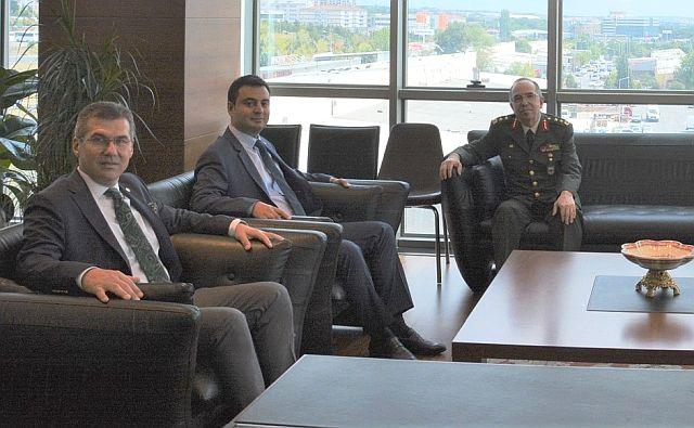 Tümgeneral Gürsel Yüz'den ÇTSO'ya veda ziyareti