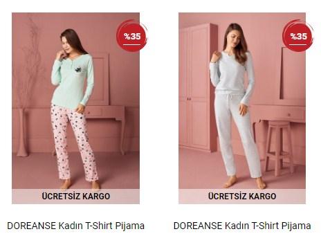 Pijama Takımı Bayan Ev Giyim