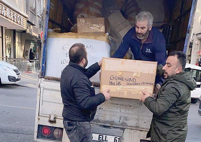 Güngören İdlib için  şefkat hareketine malıyla, alın teriyle ortak oldu