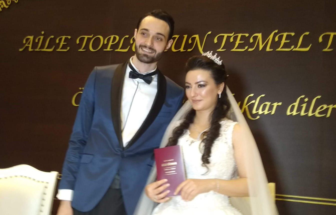 Hilal Karaahmet ve Enes Küçükaytekin'in mutlulukları nikahla devam etti