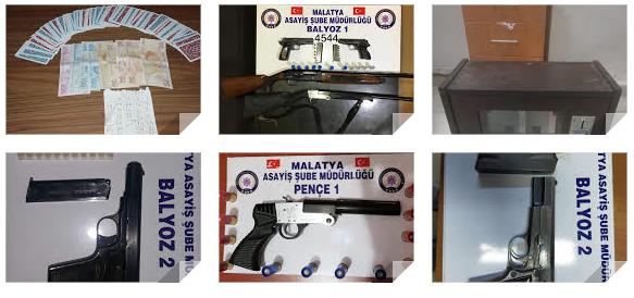 Malatya Emniyeti Pençe ve Balyoz operasyonlarıyla, suç makinaları kodesi boyladı