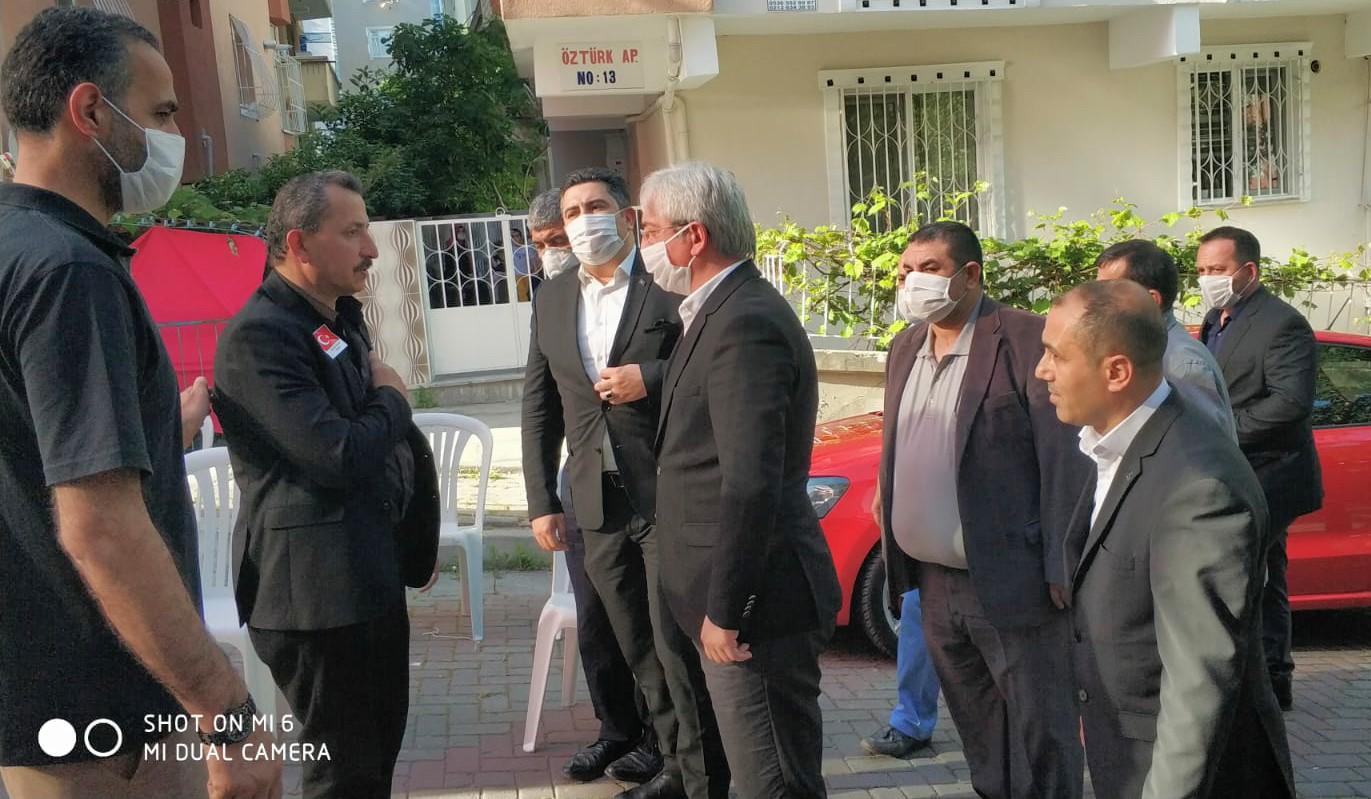 MHP Güngören'de Burak Aydoğan'ın şehit acısına ortak oldu
