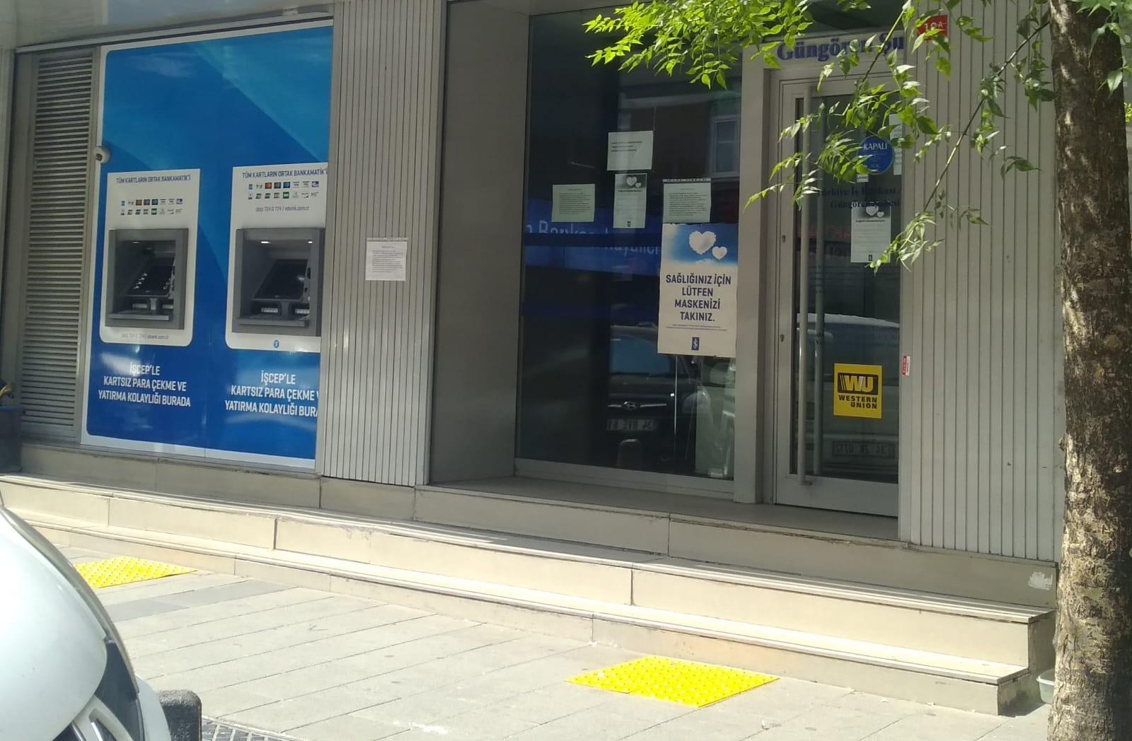 Güngören'de banka şubesi koronovirüsten kapandı