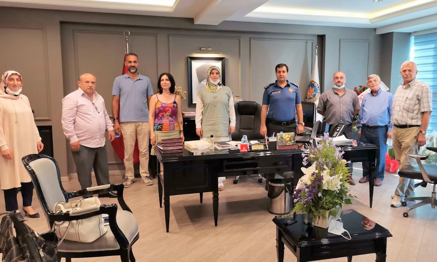 Güngörenin muhtarları Murat Aydın'a Hoş Geldin dedi