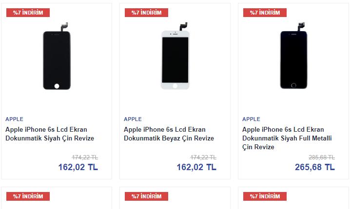 İphone 6S Ekran Orjinal Fiyatları İle Telefon Parçası'nda