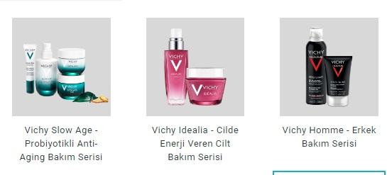 Vichy Ürün Seçenekleri
