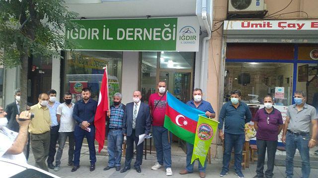 Iğdırlılar Güngören'de  Azerbaycan için tek yürek oldular