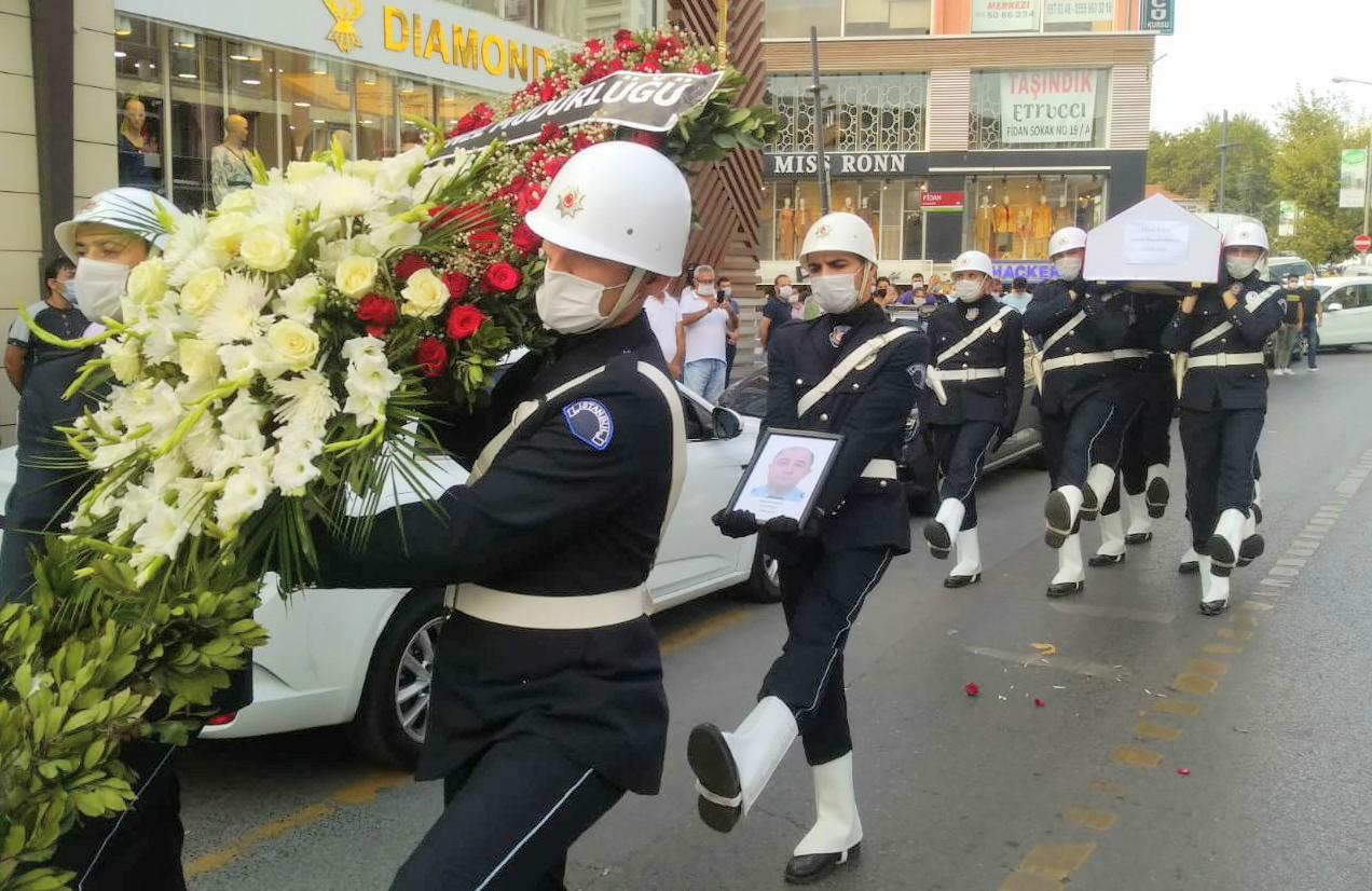Polis memuru Erdal Polat törenle son yolculuğuna uğurlandı