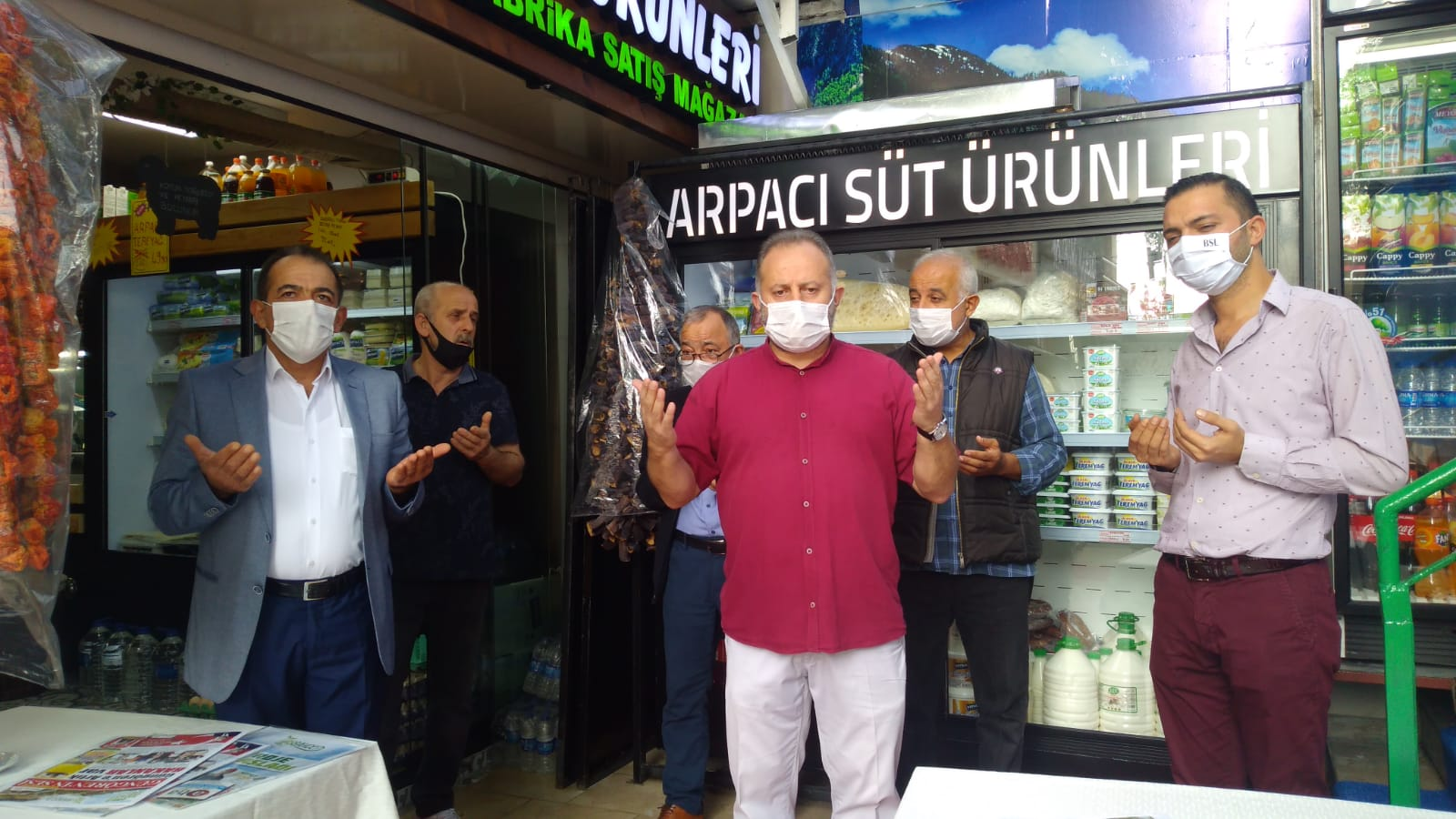Arpacı süt ürünleri satış mağazası  dualarla kapısını Merter'de açtı