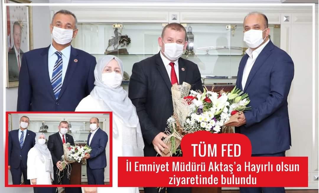 TÜMFED İstanbul Emniyet Müdürü Zafer Aktaş'ı  Ziyaret etti.
