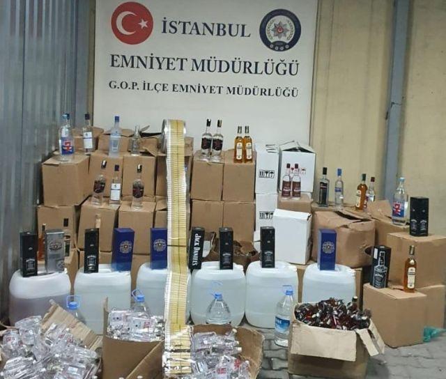 Gaziosmanpaşa Emniyeti Kaçak içki ve Sahte alkol imalatını operasyonla çökertti