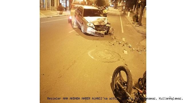 Araçla motosiklet çarpıştı, Can Pazarı yaşandı