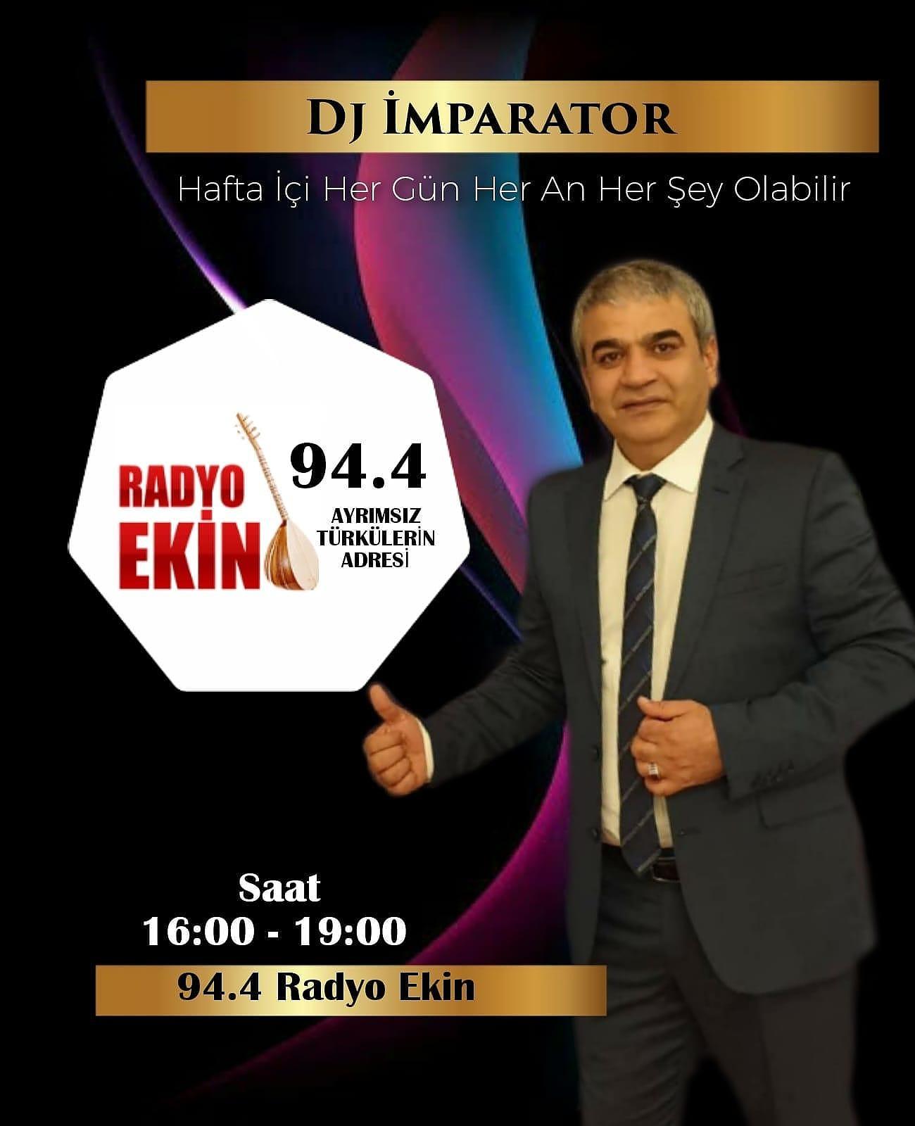 Efsane geri döndü, DJ imparator 94.4 Radyo Ekin'de hayranlarıyla  buluşuyor