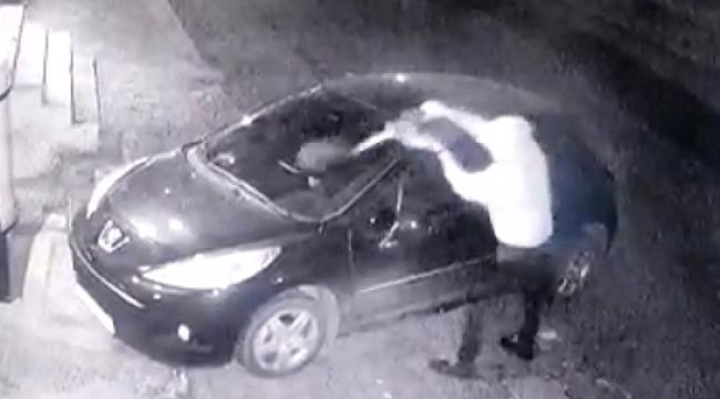 Güngören Oto Kundakcısı hem kameralara, hemde polise Kıskıvrak Yakalandı