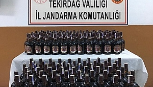 Malkara'da kaçak içki operasyonunda 2 kişi kıskıvrak yakalandı