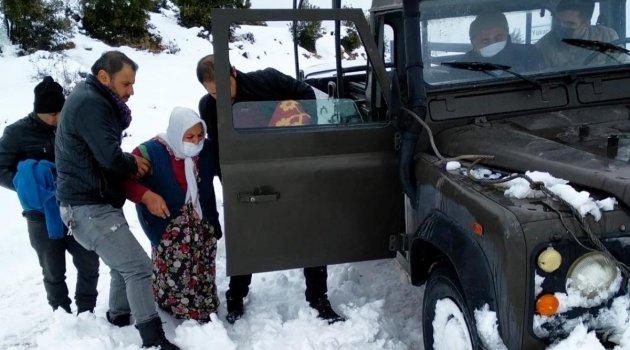 Jandarma ve 112 ekipleri gazi ailesinin imdadına yetişti
