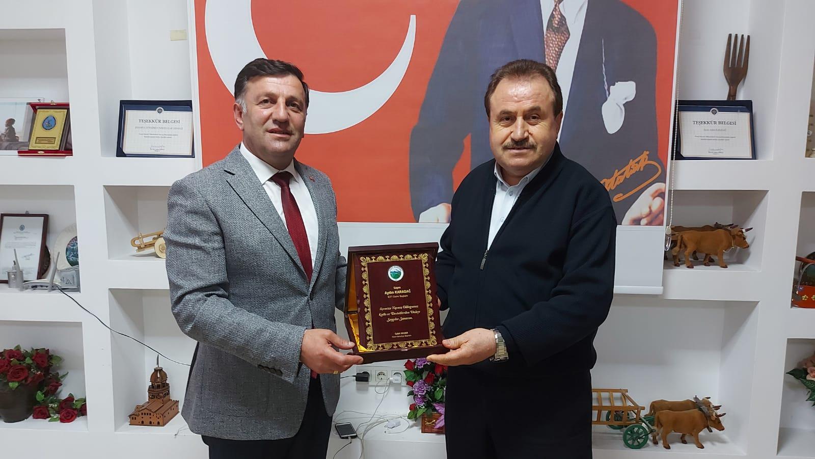 Posoflulara, Belediye Başkanları Cahit Ulgar'dan Teşekkür ve Tebrik geldi