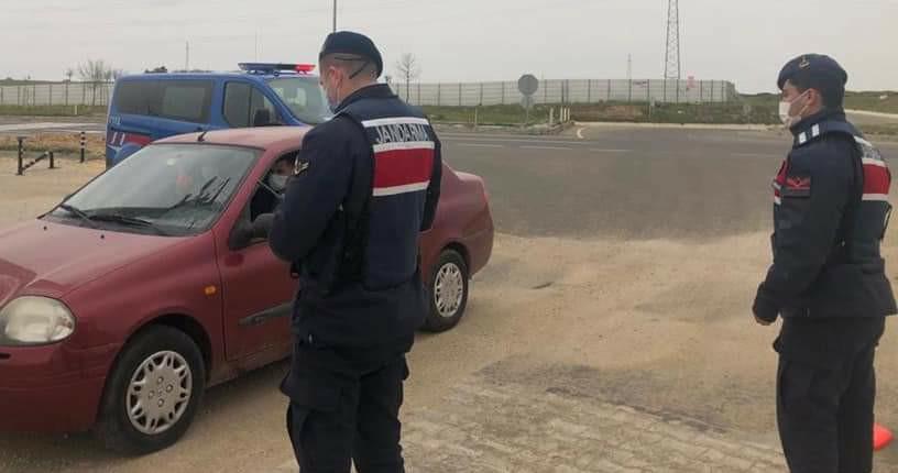 Edirne İpsala'da kısıtlamada taviz yok, Emniyet ve Jandarma kuş uçurtmuyor