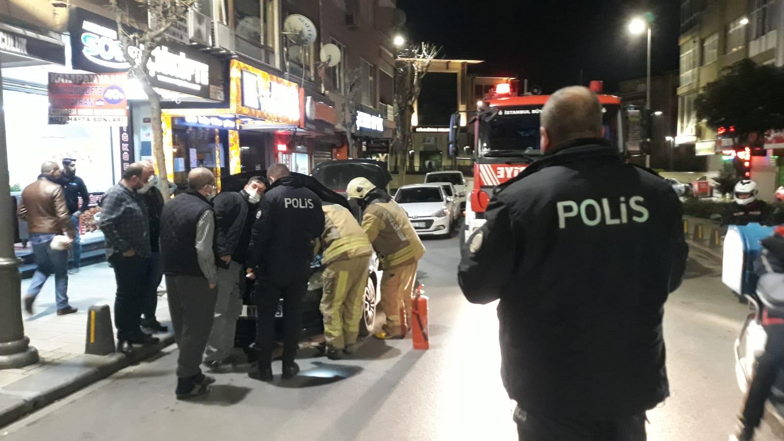 Lpg li araç polisi ve itfaiyeyi alarma geçirdi