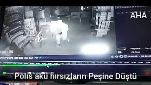 Polis akü hırsızların peşinde