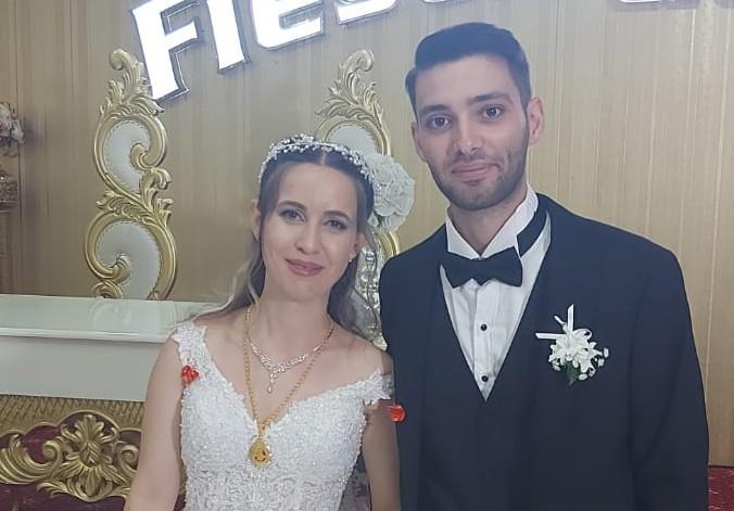 Alperen Alagöz ve Yaren Tobur muhteşem düğün töreniyle dünya evine girdiler