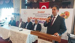 """Madef 6. Kongresinde Yılmaz Durmuş,"""" Derdimiz Malatya, Malatyalılar"""" dedi."""