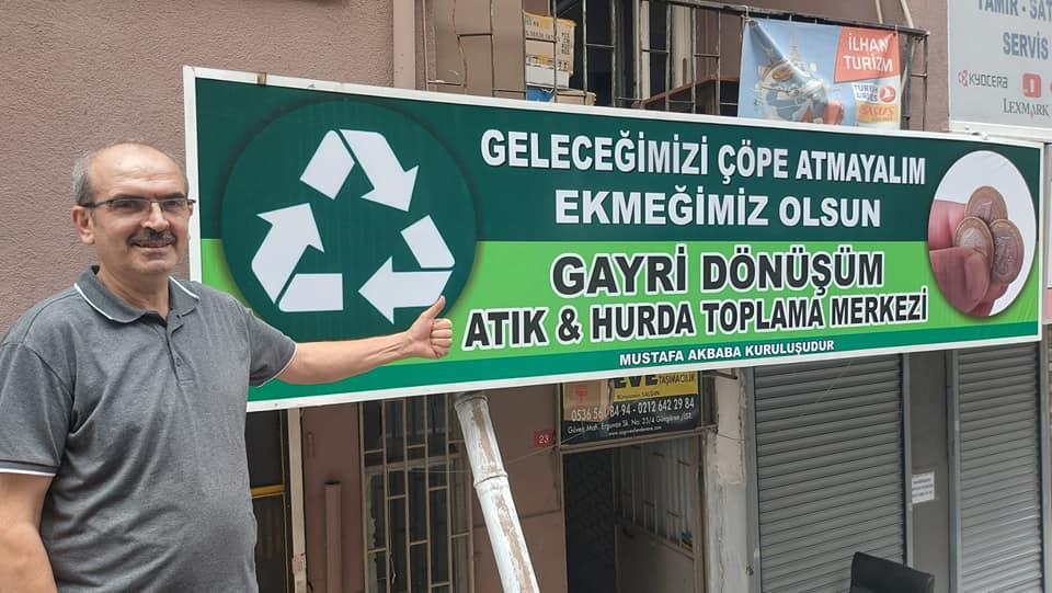 """Mustafa Akbaba'dan örnek yatırım: """"Geleceğimizi Çöpe Atmayalım Ekmeğimiz Olsun"""""""
