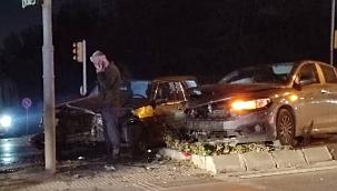 Kazada vatandaş canını zor kurtardı
