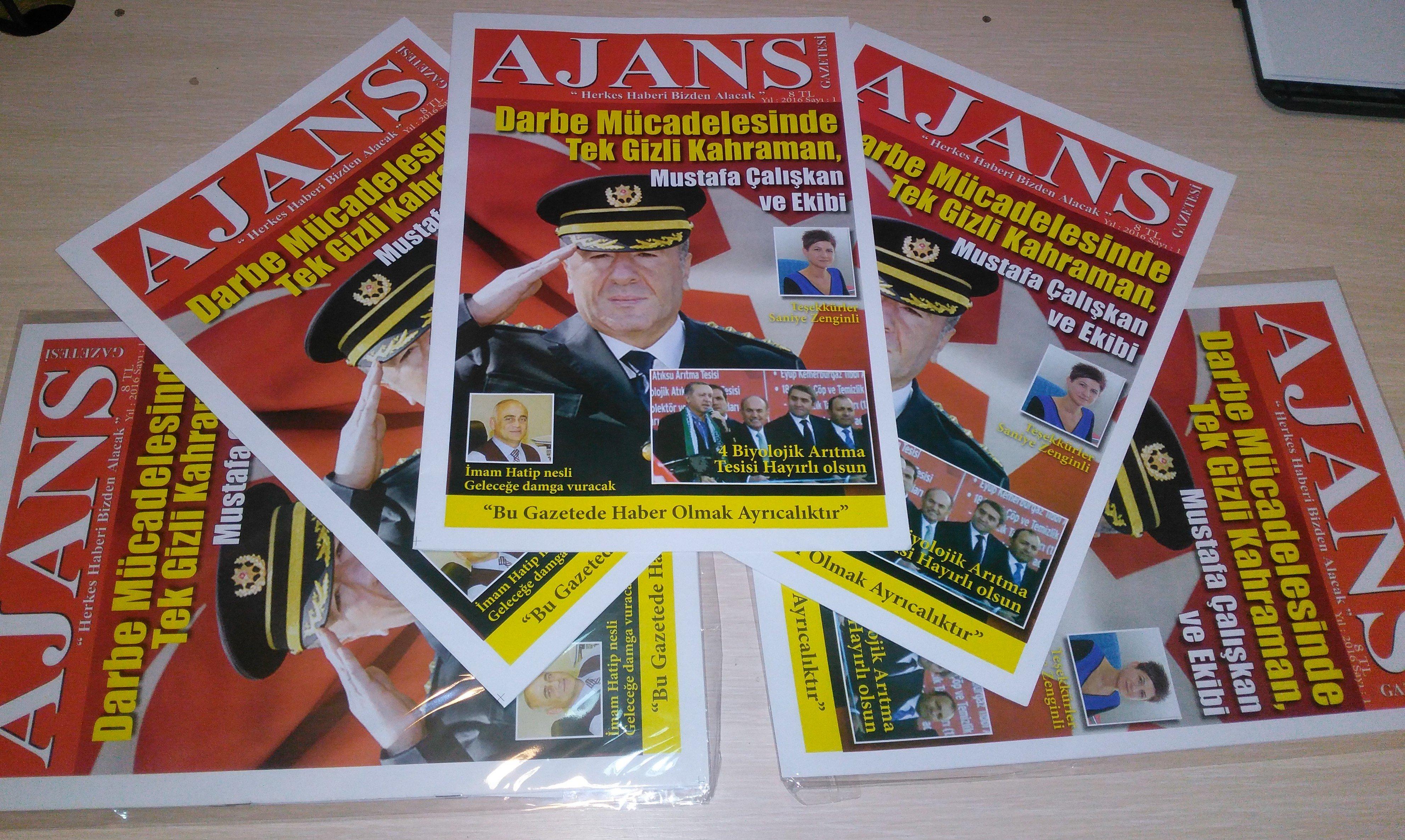 Ajans gazetesi yayın hayatına başladı