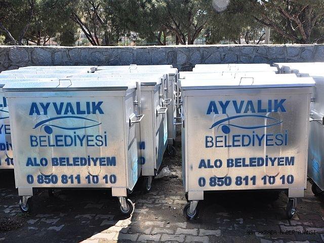 AYVALIK'A YENİ ÇÖP KONTEYNIRLARI