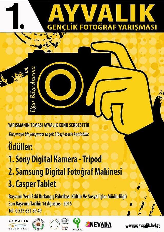 Ayvalık'ta Gençlik Fotoğraf Yarışması Düzenleniyor.